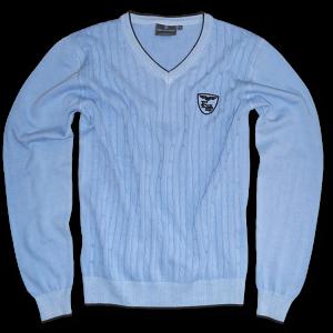 Pullover V-Sport hellblau